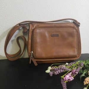 Vintage leather brown fossil purse